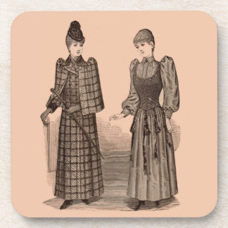 1895 Delineator print ladies coat and dress Coaster