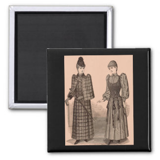 1895 Delineator print ladies coat and dress Magnet
