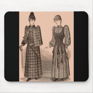 1895 Delineator print ladies coat and dress Mouse Pad