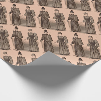 1895 Delineator print ladies coat and dress Wrapping Paper