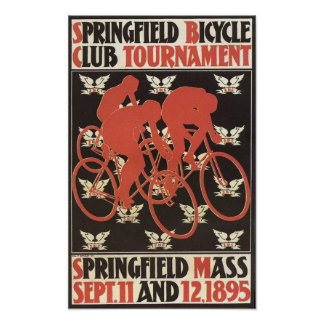 1895 Springfield Massachusetts Bicycle Tournament Poster