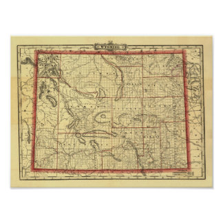 1895 Wyoming Map Poster
