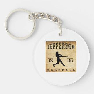 1896 Jefferson Wisconsin Baseball Double-Sided Round Acrylic Key Ring