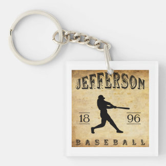 1896 Jefferson Wisconsin Baseball Single-Sided Square Acrylic Key Ring