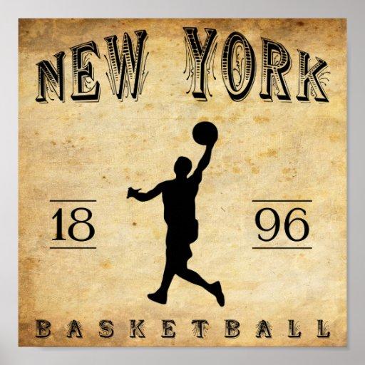 1896 New York City New York Basketball Print