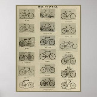 1896 Vintage Bicycle Models Ad Art Poster