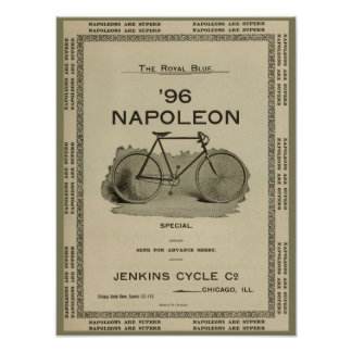 1896 Vintage Napoleon Bicycle Ad Art Poster