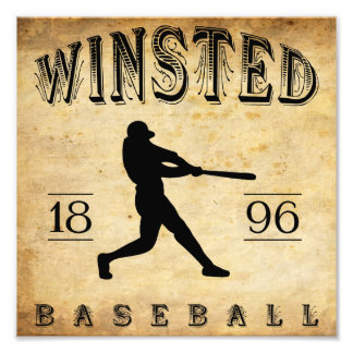 1896 Winsted Connecticut Baseball Photographic Print