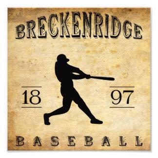 1897 Breckenridge Colorado Baseball Photograph