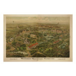 1897 Nashville, TN Centennial Expo Panoramic Map Poster