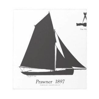 1897 Prawner - tony fernandes Notepad