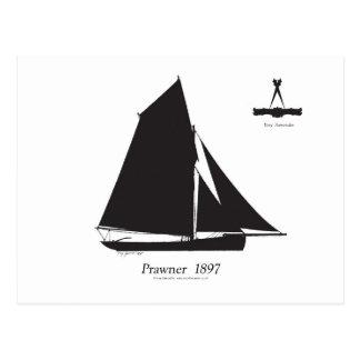 1897 Prawner - tony fernandes Postcard