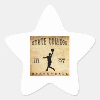 1897 State College Pennsylvania Basketball Star Sticker