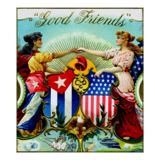 1898 Good Friends Cigars Poster