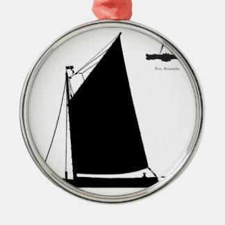 1898 Norfolk Wherry - tony fernandes Metal Ornament