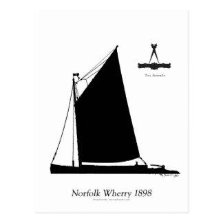 1898 Norfolk Wherry - tony fernandes Postcard
