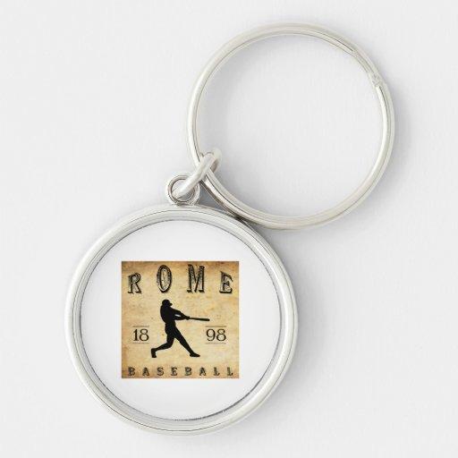 1898 Rome New York Baseball Keychains