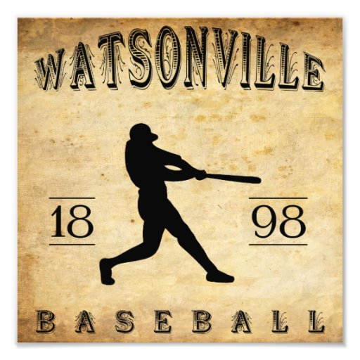 1898 Watsonville California Baseball Photo Art