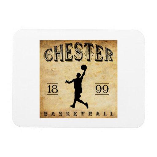 1899 Chester Pennsylvania Basketball Flexible Magnets