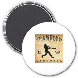 1899 Crawford Indiana Baseball 7.5 Cm Round Magnet