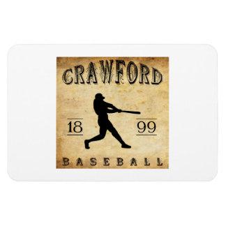 1899 Crawford Indiana Baseball Rectangular Magnets