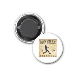 1899 Danville Indiana Baseball 3 Cm Round Magnet