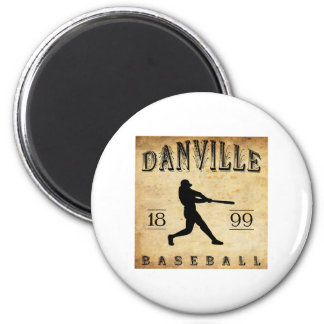 1899 Danville Indiana Baseball 6 Cm Round Magnet