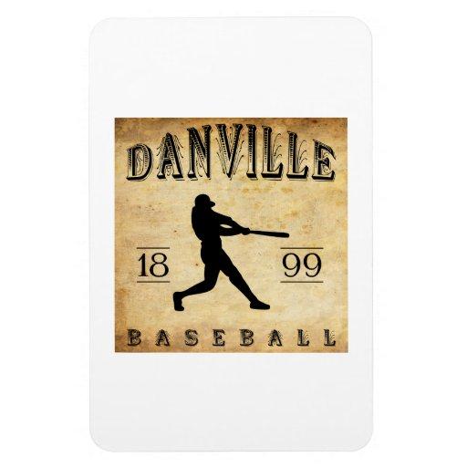 1899 Danville Indiana Baseball Rectangle Magnets