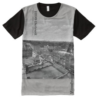 1899 Detroit - Time Travel Woodward All-Over Print T-Shirt