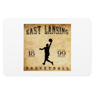 1899 East Lansing Michigan Basketball Rectangle Magnets