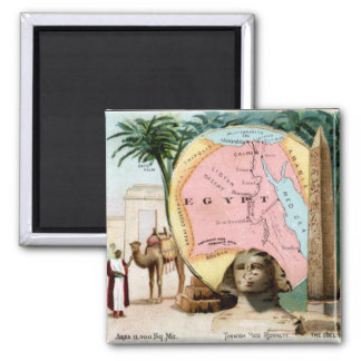1899 Egypt Trading Card Refrigerator Magnets