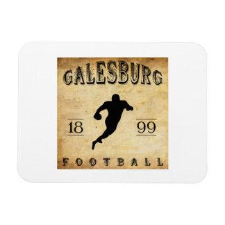 1899 Galesburg Illinois Football Flexible Magnet