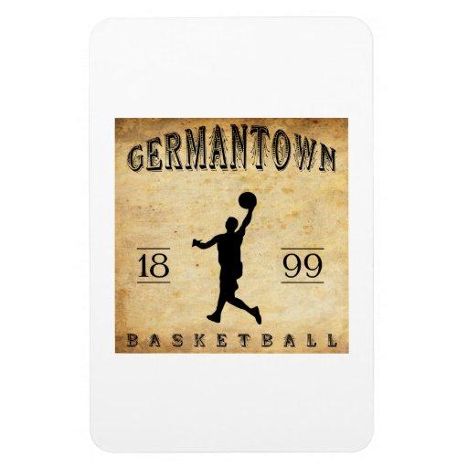 1899 Germantown Pennsylvania Basketball Rectangular Magnet