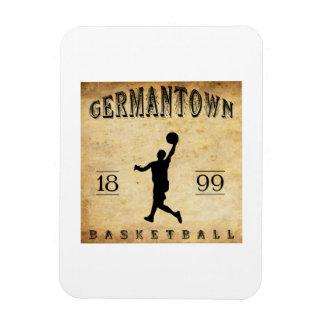 1899 Germantown Pennsylvania Basketball Magnets