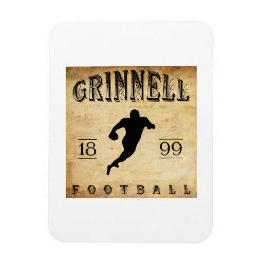 1899 Grinnell Iowa Football Vinyl Magnet