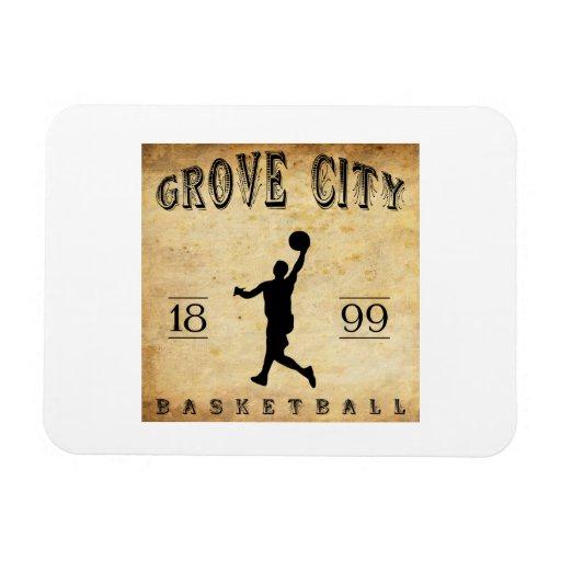 1899 Grove City Pennsylvania Basketball Rectangle Magnet