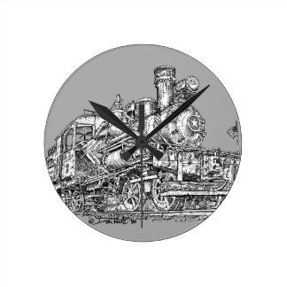 1899 Heisler Steam Engine Round Clock