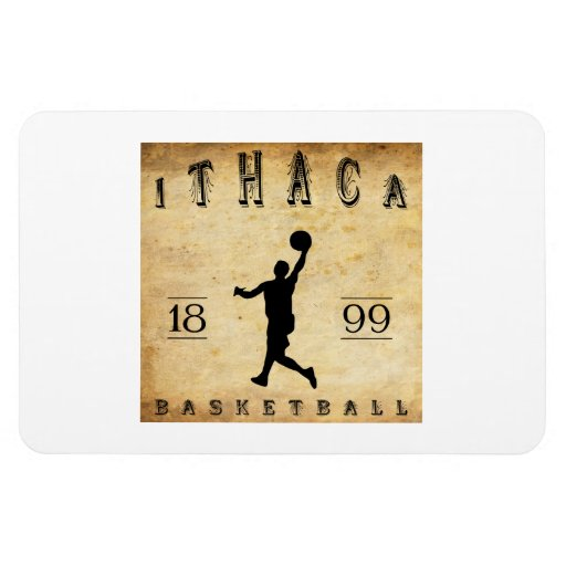 1899 Ithaca New York Basketball Rectangle Magnets