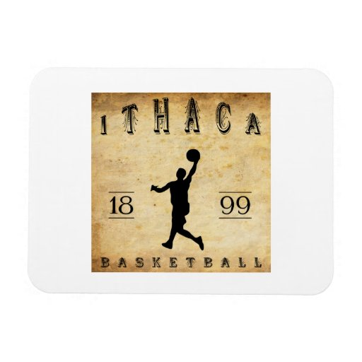 1899 Ithaca New York Basketball Flexible Magnet