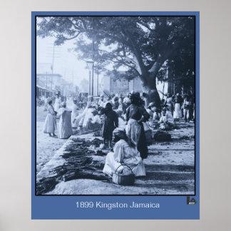 1899 Kingston Jamaica Market Poster