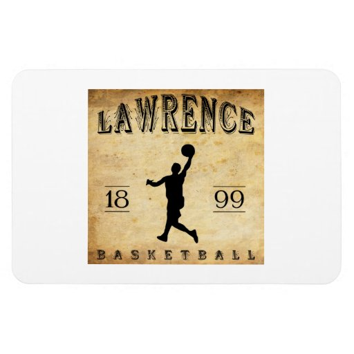 1899 Lawrence Kansas Basketball Flexible Magnet