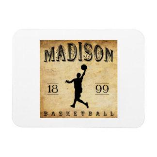 1899 Madison Wisconsin Basketball Rectangular Magnet