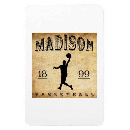 1899 Madison Wisconsin Basketball Rectangular Magnets