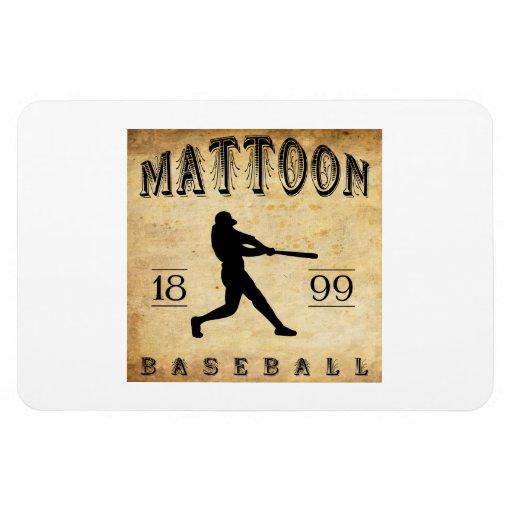 1899 Mattoon Illinois Baseball Rectangle Magnets