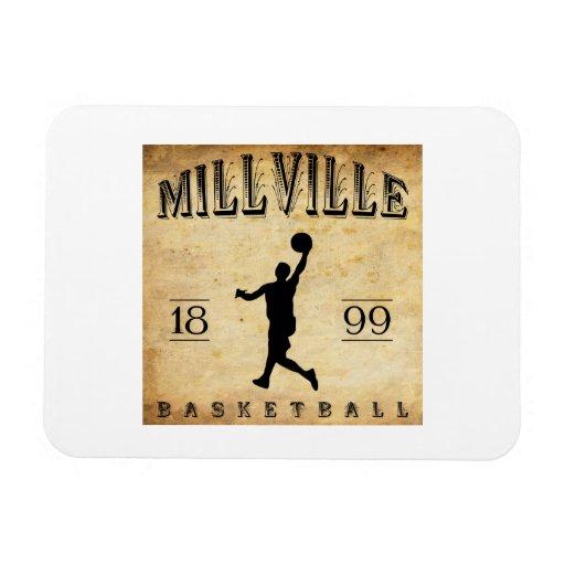 1899 Millville New Jersey Basketball Rectangular Magnets