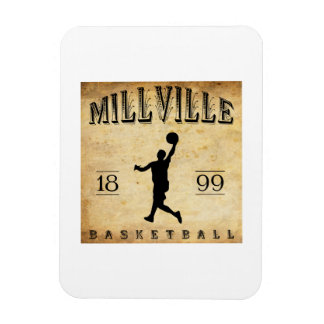 1899 Millville New Jersey Basketball Flexible Magnets
