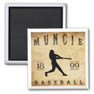 1899 Muncie Indiana Baseball Square Magnet