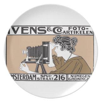 1899 retro photo service poster dinner plates