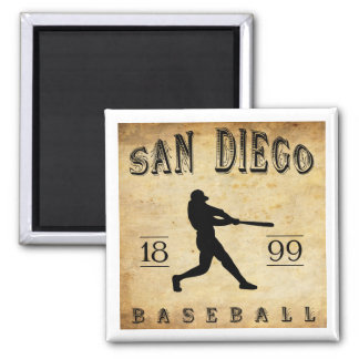 1899 San Diego California Baseball Square Magnet