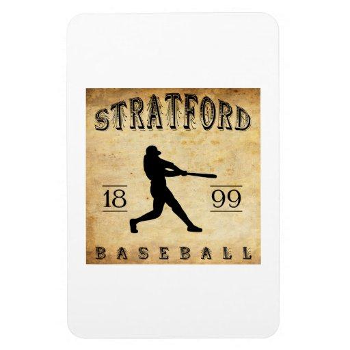 1899 Stratford Ontario Canada Baseball Magnet